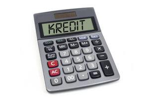 Taschenrechner mit Kredit