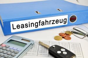 Unterlagen für ein Leasingfahrzeug