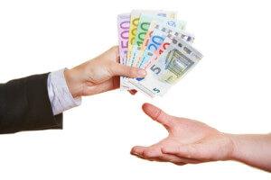 Privatkredit bar in die Hand